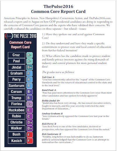 Candidates and Common Core