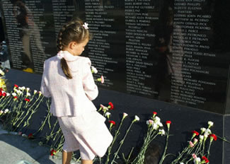 911 Monument Dedication Ceremony, Sept. 11, 2006